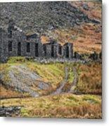 Old Ruin At Cwmorthin Metal Print