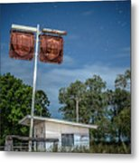 Old Rustic Fuel Station Sign In The Countryside Metal Print