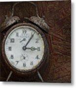 Old Rustick Clock Metal Print