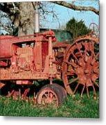 Old Rusty Tractors Metal Print