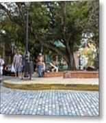 Streets Of Old San Juan Metal Print