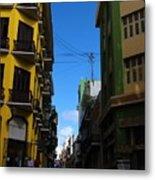 Old San Juan Puerto Rico Downtown On The Corner Metal Print