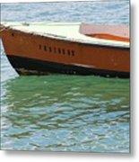 Old San Juan Puerto Rico Local Boats Metal Print