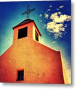 Old Santa Fe Church Metal Print