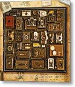 'old School' Cameras Metal Print