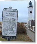 Old Scituate Lighthouse Metal Print