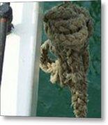 Old Sea Rope Metal Print