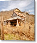 Old Shack Metal Print