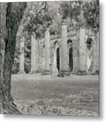 Old Sheldon Church Ruins Metal Print