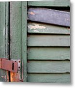 Old Shutters French Quarter Metal Print