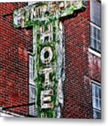 Old Simpson Hotel Sign Metal Print