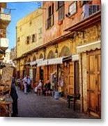 Old Souk Of Sidon Metal Print