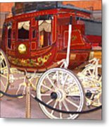 Old Stagecoach - Wells Fargo Inc. Metal Print