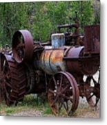 Old Steam Tractor Metal Print