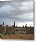 Old Stock Corral On The Rez Az. Metal Print