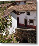 Old Stone Bridge In Historic Hillside Village Of San Sebastian D Metal Print