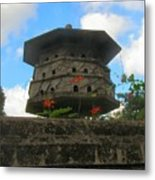 Old Stone Chinese Bird House Metal Print