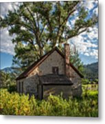 Old Stone Ranch Structure Metal Print