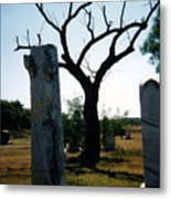 Old Stones In Old Cementery Metal Print