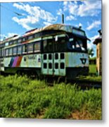 Old Street Car In Upstate New York Metal Print