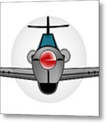 Old Style Fighter Aircraft Metal Print