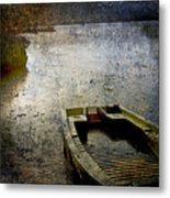 Old Sunken Boat. Metal Print by Bernard Jaubert