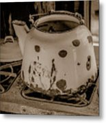 Old Tea Kettle In A Miner's Cabin Metal Print