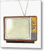 Old Television Set Metal Print