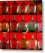 Old Tequila Jugs By Darian Day Metal Print