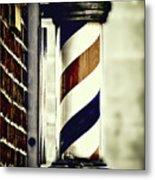 Old Time Barber Pole Metal Print