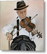 Old Time Fiddler Metal Print