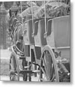 Old Time Horse And Buggy Metal Print