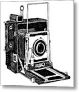 Old Timey Vintage Camera Metal Print