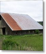 Old Tin Roof Barn Washington State Metal Print