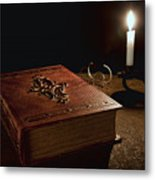 Old Tome Still Life II Metal Print