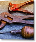 Old Tools Metal Print