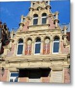 Old Town House Facade In Baden-baden Metal Print