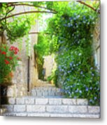 Old Town Of Provence Street Metal Print
