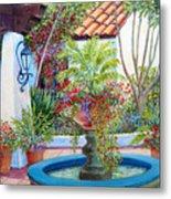 Old Town Water Fountain Metal Print