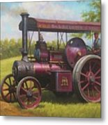 Old Traction Engine. Metal Print