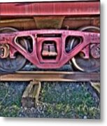Old Train Wheels Metal Print