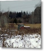 Old Truck And A Moose Metal Print