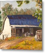 Old Truck And Barn Metal Print