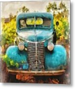 Old Truck At The Winery Metal Print