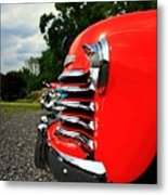 Old Truck Grille Metal Print