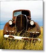 Old Truck In Field Metal Print