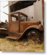 Old Truck In Old Forgotten Places Metal Print