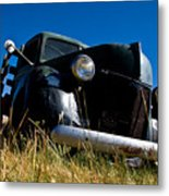 Old Truck Low Perspective Metal Print