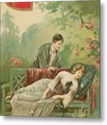 Old Victorian Era Valentine Card Metal Print