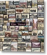 Old Vienna Collage Metal Print